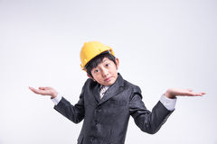 Ασιατικός επιχειρηματίας αγοριών Στοκ Εικόνες