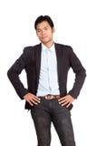 Ασιατικός επιχειρηματίας στο περιστασιακό κοστούμι Στοκ φωτογραφία με δικαίωμα ελεύθερης χρήσης