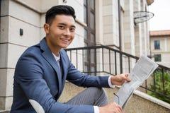 Ασιατικός επιχειρηματίας το πρωί Στοκ φωτογραφίες με δικαίωμα ελεύθερης χρήσης