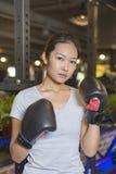 Ασιατικός θηλυκός εγκιβωτισμός άσκησης μπόξερ Στοκ εικόνες με δικαίωμα ελεύθερης χρήσης