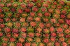 ασιατικός καρπός rambutan στοκ φωτογραφίες