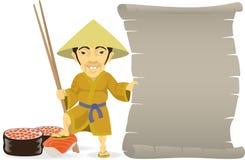 Ασιατικός μάγειρας Ελεύθερη απεικόνιση δικαιώματος