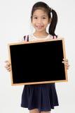 Ασιατικός πίνακας εκμετάλλευσης χεριών κοριτσιών Στοκ εικόνα με δικαίωμα ελεύθερης χρήσης