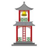Ασιατικός πύργος κουδουνιών Στοκ εικόνες με δικαίωμα ελεύθερης χρήσης