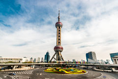 Ασιατικός πύργος pudong Σαγγάη Κίνα μαργαριταριών στοκ φωτογραφίες