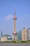 Ασιατικός πύργος TV μαργαριταριών της Σαγγάης Στοκ φωτογραφία με δικαίωμα ελεύθερης χρήσης
