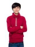 Ασιατικός σοβαρός νεαρός άνδρας Στοκ φωτογραφία με δικαίωμα ελεύθερης χρήσης
