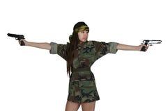 Ασιατικός στρατιώτης γυναικών Στοκ Φωτογραφίες