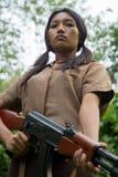 Ασιατικός στρατιώτης Στοκ Φωτογραφία
