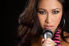 ασιατικός τραγουδιστή&sigmaf Στοκ Φωτογραφία