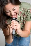 ασιατικός τραγουδιστή&sigmaf Στοκ Εικόνες