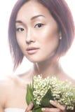 Ασιατικός τύπος κοριτσιών μόδας όμορφος με λεπτό Στοκ Φωτογραφίες
