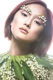 Ασιατικός τύπος κοριτσιών μόδας όμορφος με λεπτό Στοκ φωτογραφίες με δικαίωμα ελεύθερης χρήσης