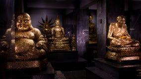 Ασιατικό άγαλμα του Βούδα στην Ταϊλάνδη Στοκ Εικόνες