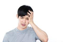 Ασιατικό άτομο - που απομονώνεται στο άσπρο υπόβαθρο Στοκ Εικόνα