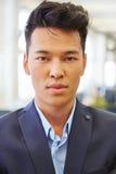 Ασιατικό άτομο ως επιχειρηματία Στοκ εικόνες με δικαίωμα ελεύθερης χρήσης