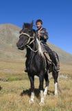 Ασιατικό αγόρι στο άλογο στοκ φωτογραφίες με δικαίωμα ελεύθερης χρήσης