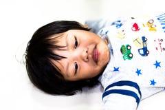 Ασιατικό αγόρι χρονικής εκπαίδευσης παιδιών Στοκ Φωτογραφίες