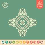 Ασιατικό αραβικό σχέδιο ΛΟΓΟΤΥΠΟ στοιχείο σχεδίου σας Στοκ Εικόνες