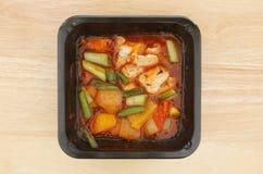 Ασιατικό γεύμα μικροκυμάτων Στοκ Φωτογραφία