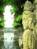 ασιατικό γλυπτό θεών Στοκ Εικόνες