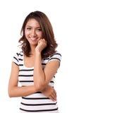 ασιατικό γυναικείο χαμόγελο Στοκ εικόνα με δικαίωμα ελεύθερης χρήσης