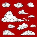 ασιατικό διάνυσμα σύννεφω Στοκ εικόνα με δικαίωμα ελεύθερης χρήσης