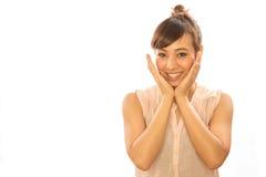 Ασιατικό ευτυχές πρόσωπο γυναικών κοριτσιών του Λατίνα Στοκ εικόνα με δικαίωμα ελεύθερης χρήσης