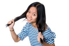 ασιατικό εύθυμο κορίτσι Στοκ Εικόνες