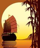 ασιατικό ηλιοβασίλεμα διανυσματική απεικόνιση