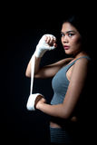 ασιατικό θηλυκό μπόξερ Στοκ εικόνες με δικαίωμα ελεύθερης χρήσης
