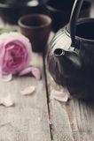 ασιατικό καθορισμένο τσά&i φωτογραφία που τονίζετα&i Στοκ εικόνα με δικαίωμα ελεύθερης χρήσης