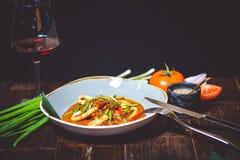 Ασιατικό καυτό γεύμα Στοκ Εικόνες