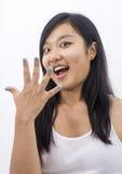 Ασιατικό κορίτσι έκπληκτο Στοκ εικόνες με δικαίωμα ελεύθερης χρήσης