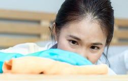 Ασιατικό κορίτσι γυναικών Στοκ Εικόνες