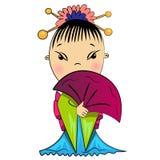 Ασιατικό κορίτσι στο παραδοσιακό κοστούμι Στοκ Εικόνες