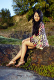 Ασιατικό κορίτσι της Νίκαιας Στοκ Εικόνα