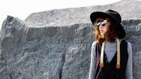 Ασιατικό κορίτσι τουριστών Στοκ φωτογραφίες με δικαίωμα ελεύθερης χρήσης