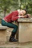 ασιατικό κορίτσι υπαίθρι&al Στοκ εικόνες με δικαίωμα ελεύθερης χρήσης