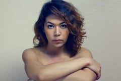 Ασιατικό κορίτσι nude Στοκ Φωτογραφία