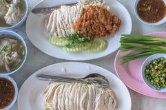 Ασιατικό κοτόπουλο ύφους στο ρύζι Στοκ φωτογραφίες με δικαίωμα ελεύθερης χρήσης