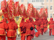 ασιατικό κόκκινο δράκων Στοκ Φωτογραφία