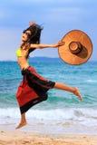 Ασιατικό μοντέλο στην παραλία Στοκ φωτογραφία με δικαίωμα ελεύθερης χρήσης