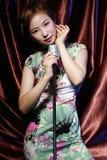 Ασιατικό μονότονο κορίτσι ομορφιάς στοκ φωτογραφία με δικαίωμα ελεύθερης χρήσης