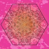 Ασιατικό μοτίβο mandala στο ροζ Στοκ Εικόνα