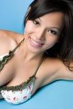 ασιατικό μπανιερό κοριτσ&io στοκ εικόνα με δικαίωμα ελεύθερης χρήσης