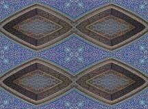 Ασιατικό μωσαϊκό - άνευ ραφής πρότυπο. Στοκ εικόνες με δικαίωμα ελεύθερης χρήσης