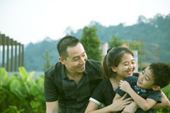 ασιατικό οικογενειακό Στοκ Φωτογραφία