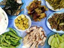 Ασιατικό παραδοσιακό γεύμα τροφίμων Στοκ Φωτογραφία