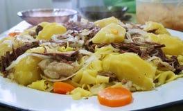 Ασιατικό πιάτο κρέατος! Στοκ εικόνα με δικαίωμα ελεύθερης χρήσης